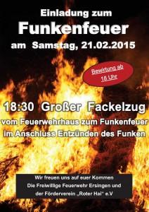 Plakat Funkenfeuer2015